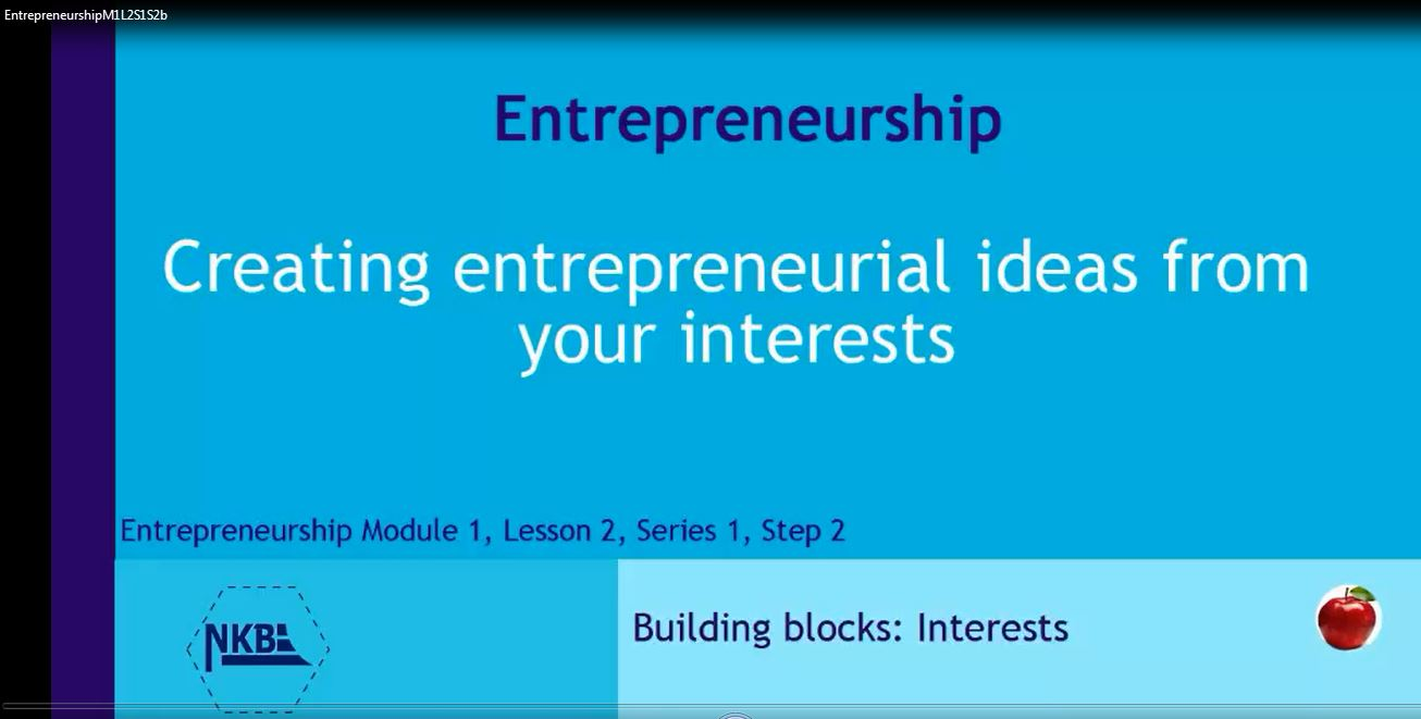 Business from interests and ideas